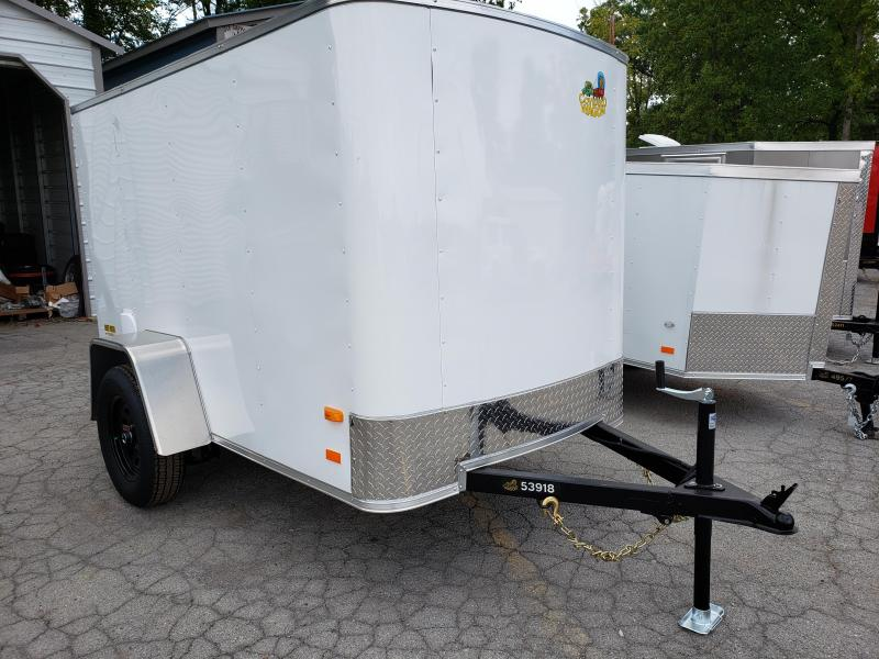 2019 Covered Wagon Trailers 5x8 Silver Package Enclosed Cargo Trailer