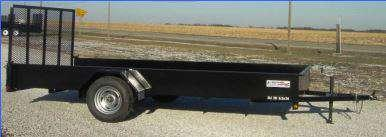 """Liberty 78"""" x 10 Solid Side 3K Utility Trailer"""