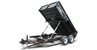 7x12 CAM Heavy Duty Low Profile Dump Trailers 12K