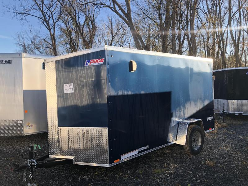 Pace American 6x12 Journey SE V Nose Cargo Trailer with Ramp Door