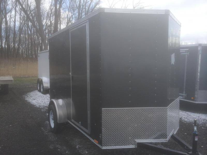 Pace American 6x12 Journey V Nose Cargo Trailer with Ramp Door