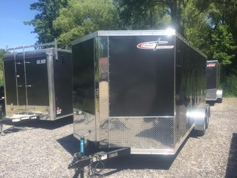 Cross 7x16 Enclosed Cargo Trailer w/ Ramp Door