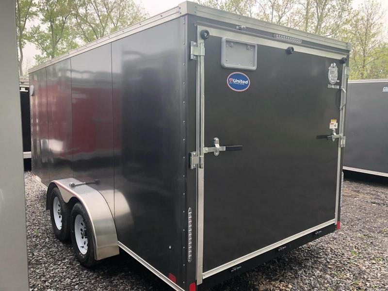 United Trailers XLV714TA Enclosed Cargo Trailer w/ Ramp Door