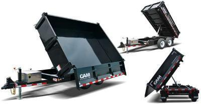 6x10 CAM 3 Way Dump Trailer 12K