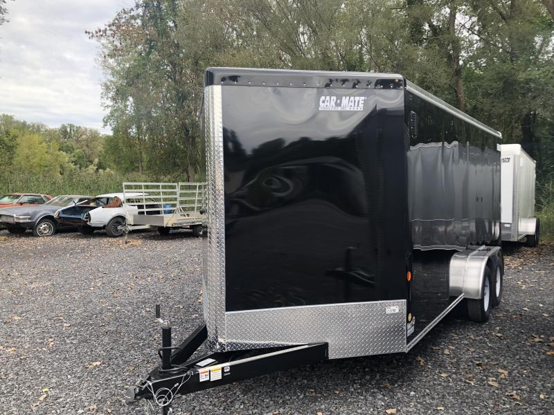 Car Mate 7x14 Advantage V Nose Cargo Trailer w/ Ramp Door
