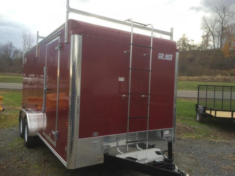 Car Mate 7x16 Custom Cargo Contractor Series w Barn Door - 9990 GVWR