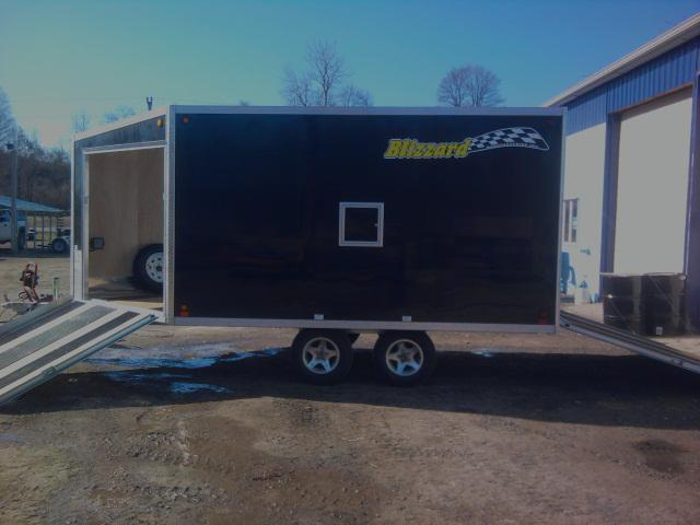 Blizzard 12' Drive on Drive off Snowmobile Trailer