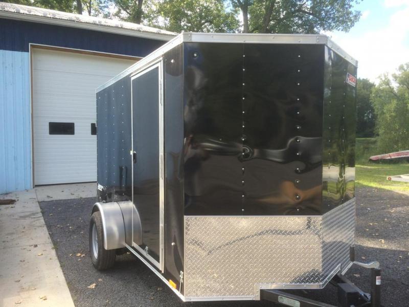 Pace American 6x10 Journey V Nose Cargo Trailer with Ramp Door