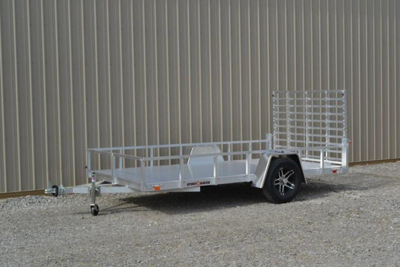 Sport Haven 6x12 Utility Trailer w/ Aluminum Deck