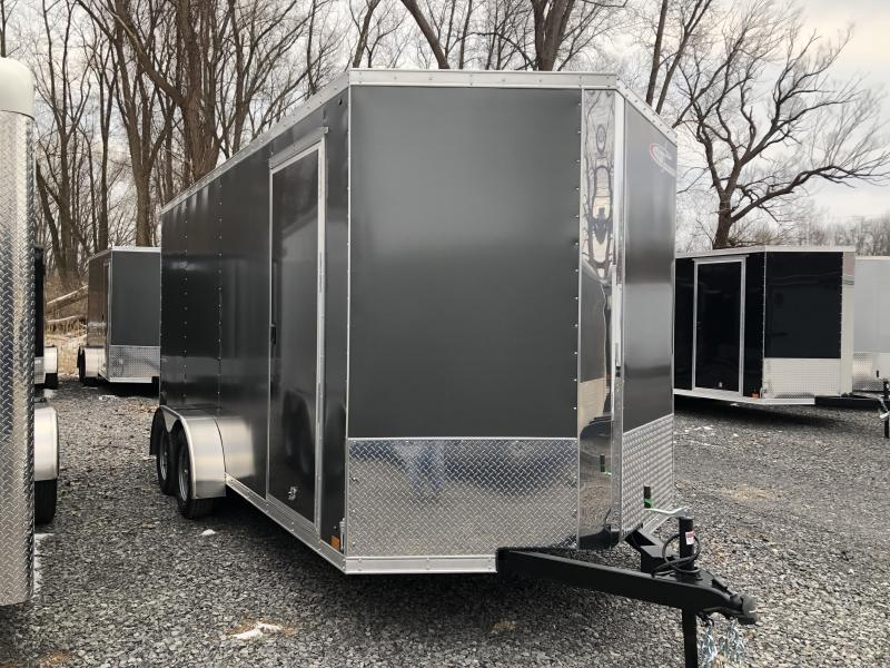 Cross 7x14 Enclosed UTV Trailer w/ Ramp Door