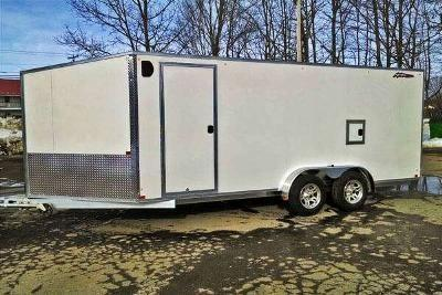 Nitro 7 x 18 Inline Drive In & Drive Out 3 Place Snowmobile Trailer