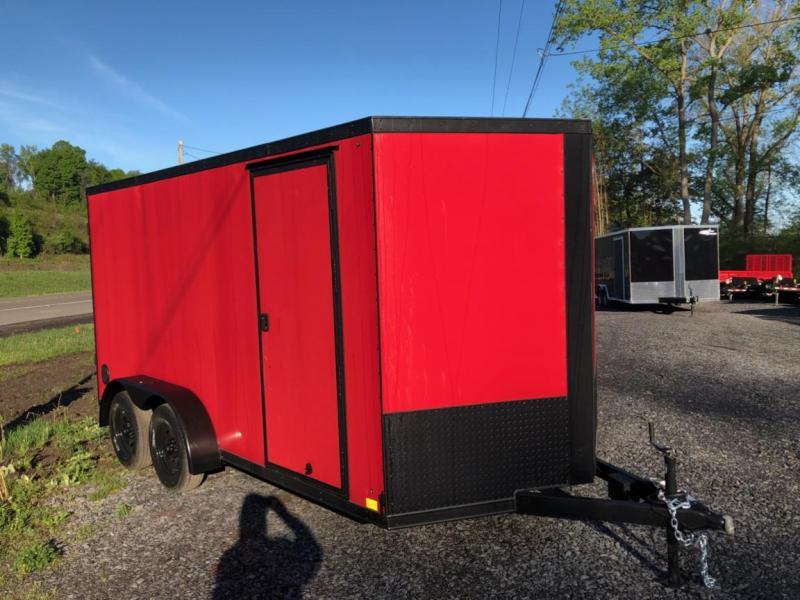 Black Out Cross 7x16 Enclosed Cargo Trailer w/ Ramp Door