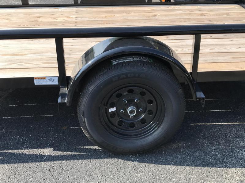 Big Tex 35SA  (6.4' x 12') Utility Trailer with Pipe Top Rails