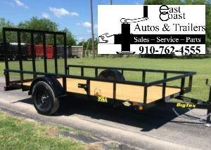 Big Tex 35SA  (6.4' x 12') Utility Trailer with Pipe Top Rails