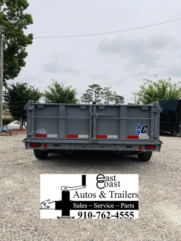 """2019 Diamond C Trailers 14' Low Profile Super Heavy Duty 7 GA Steel Dump Trailer with Trunnion Hoist & 24"""" side walls"""