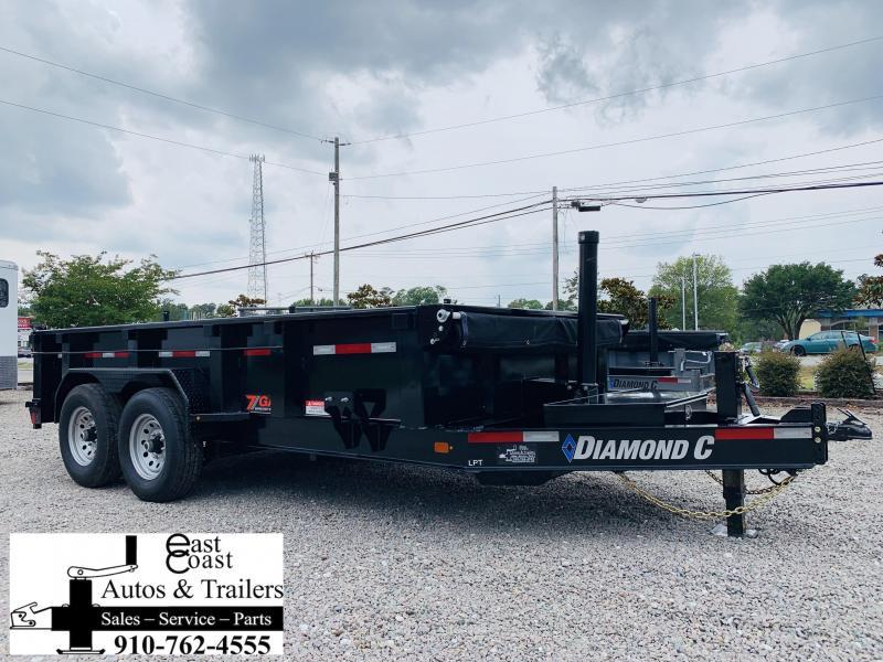 Diamond C Trailers 16' HD Low Profile Telescopic Dump Trailer with 7 GA Steel Upgrade