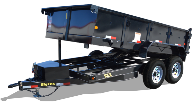 Big Tex 10LX (7' X 12') HD Dump Trailer with 9990 GVWR and Scissor Lift