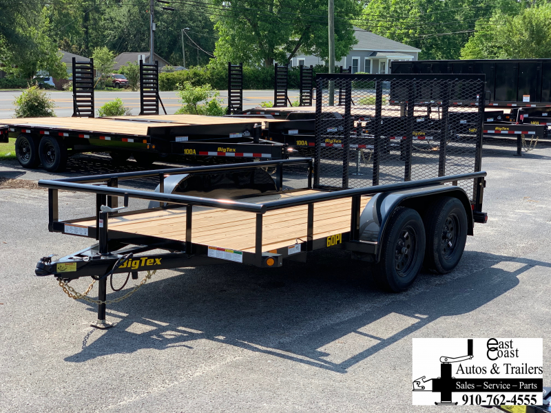 Big Tex Trailers 60PI (7' X 12') Tandem Axle Utility Trailer with 6K GVWR