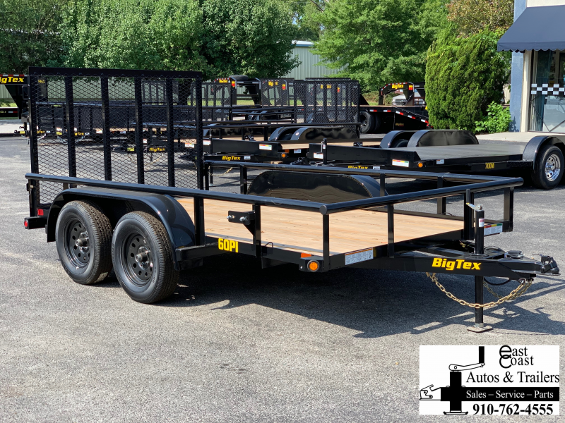 Big Tex Trailers 60PI (7' X 12') Tandem Axle Utility Trailer with 6K GVWR