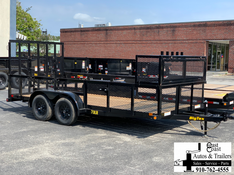 Big Tex 70LR (7' X 16') Landscape Trailer Complete with Lockable Box -Trimmer Rack and 5' rear gate
