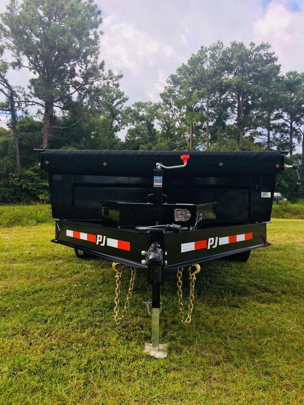 PJ Trailers DL142 (7' X 14') Low Pro Dump Trailer with 14K GVWR