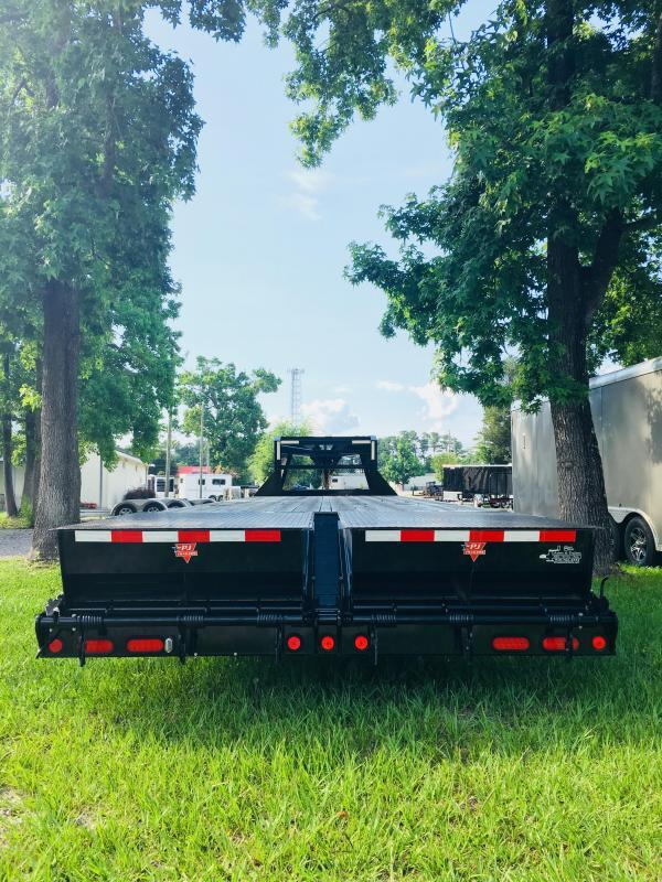 PJ Trailers FD352 (35' Flatdeck) Gooseneck Trailer with Monster Ramps