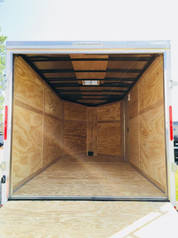 2020 Forest River 6x12 Black Enclosed Cargo Trailer