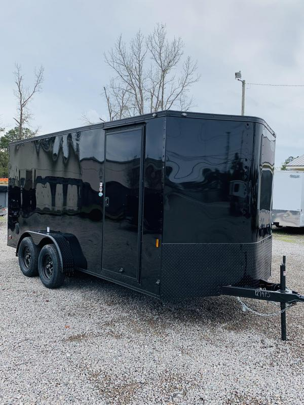 7x16 Blackout Cargo Trailer