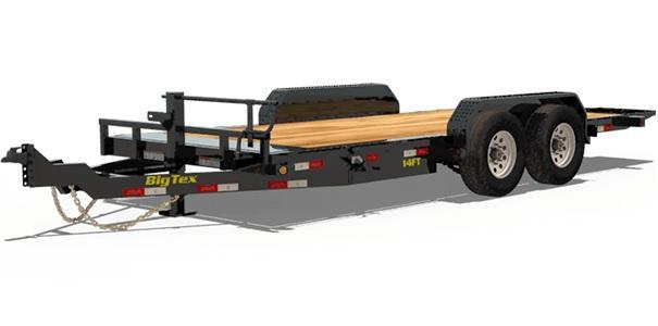 Big Tex Trailers 14FT 16' Full Tilt Equipment Trailer with 14K GVWR