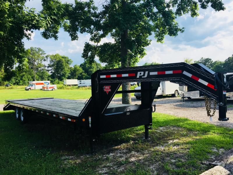 PJ Trailers FD302 (25' Flatdeck) Gooseneck Trailer with Monster Ramps