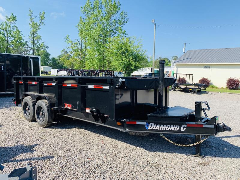 Diamond C Trailers LPT208 (7' X 16') HD Low Profile Dump Trailer with 18K GVWR