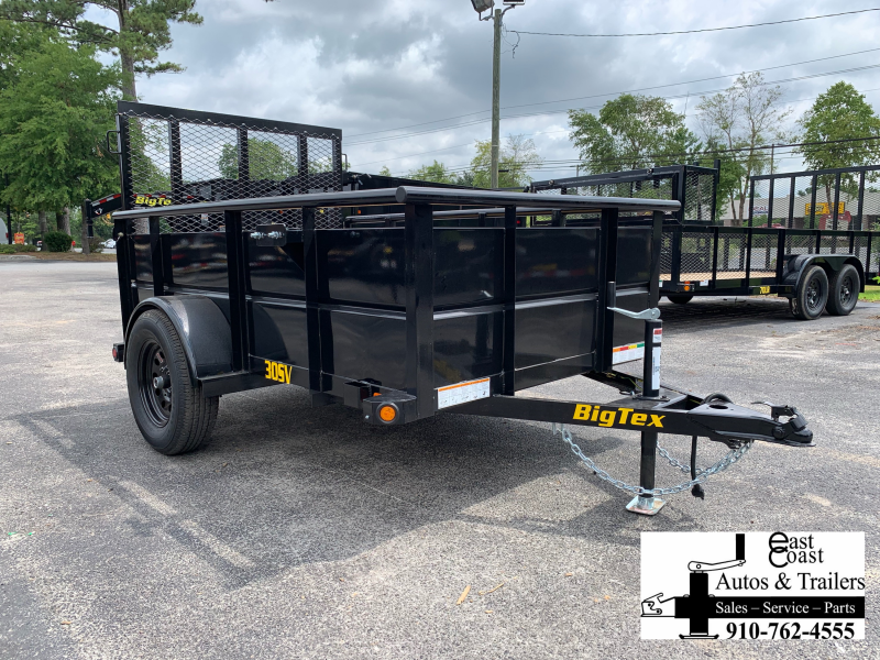 "Big Tex Trailers 30SV (5' X 8') Utility Trailer with 29"" metal sides"