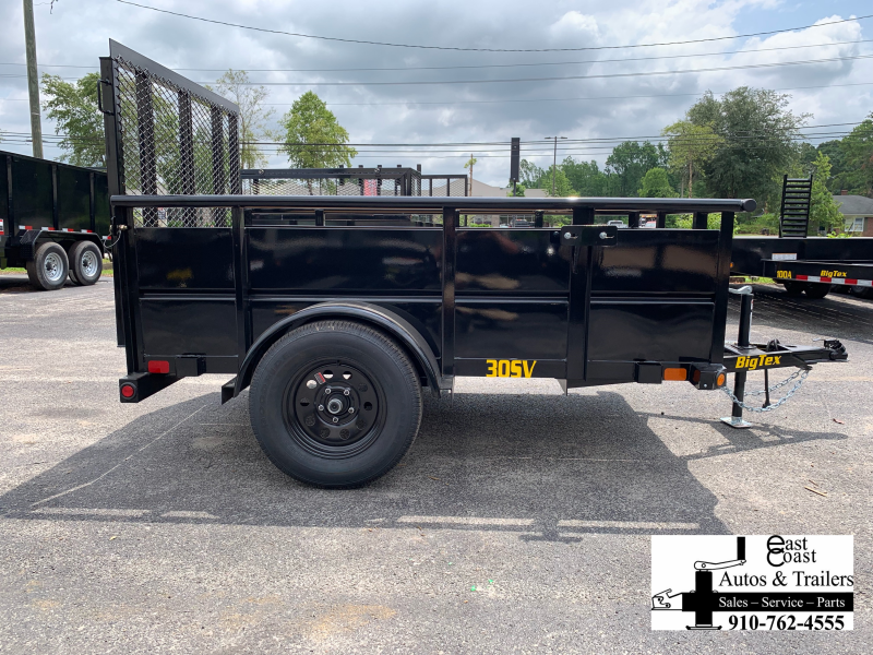 """Big Tex Trailers 30SV (5' X 8') Utility Trailer with 29"""" metal sides"""