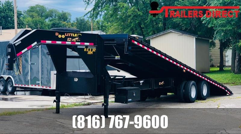 2019 Doolittle Trailer Mfg 102 X 32 Deckover / Full Tilt Equipment Trailer