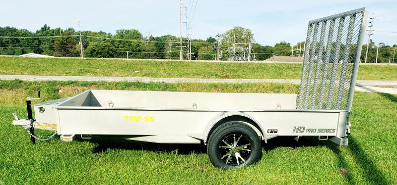 2020 Doolittle Trailer Mfg 77 X 12 Metallic SIlver Utility Trailer