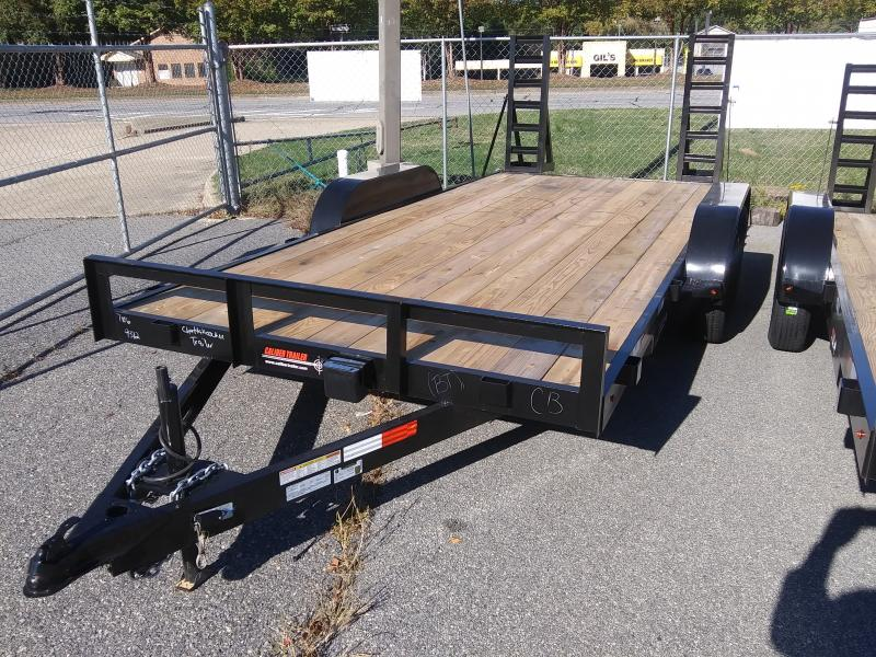 2020 Caliber Trailer Mfg EF716 Equipment Trailer