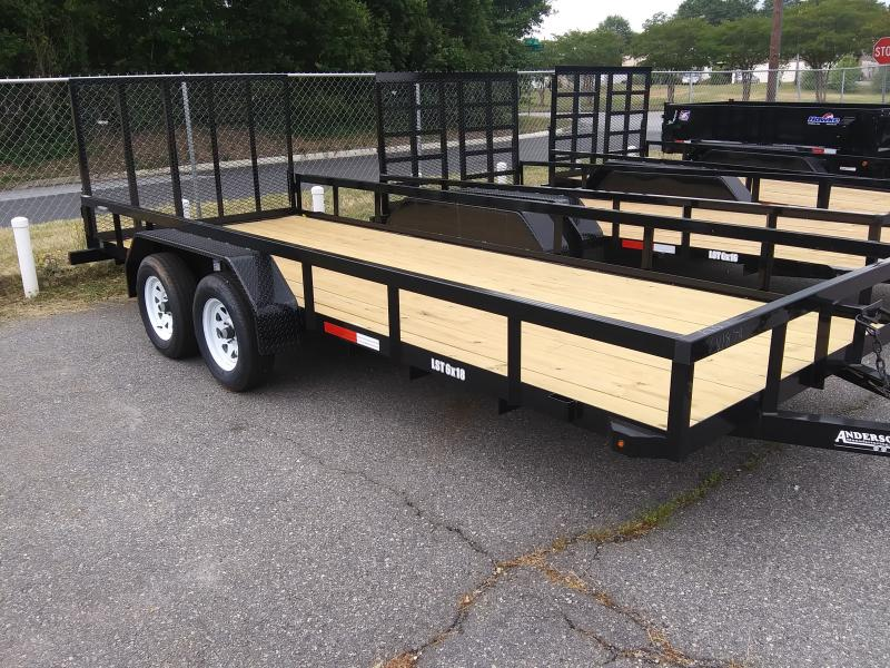 2020 Anderson Manufacturing LST618 Utility Series Utility Trailer