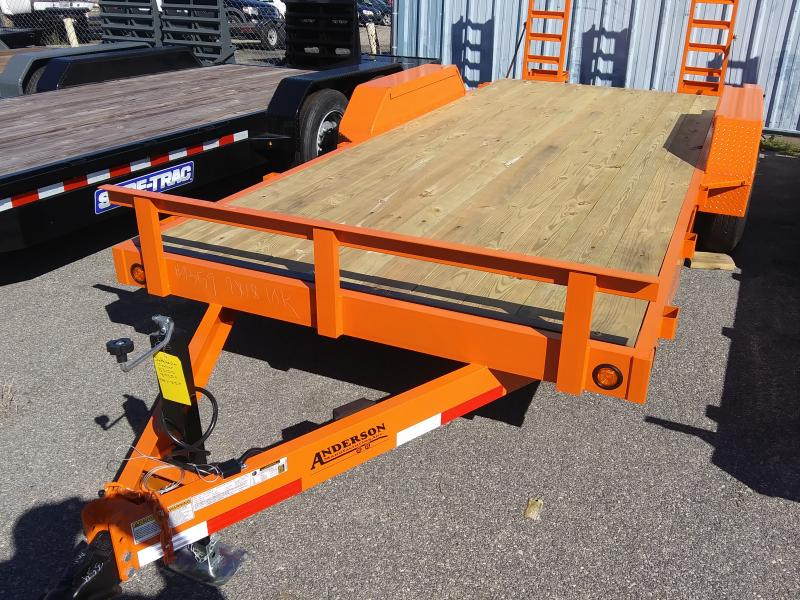 2020  Anderson Manufacturing 7X18TA 5T Equipment Series Equipment Trailer