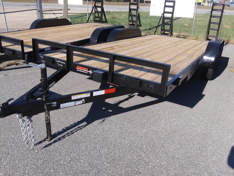 2020 Caliber Trailer Mfg EF718 Equipment Trailer
