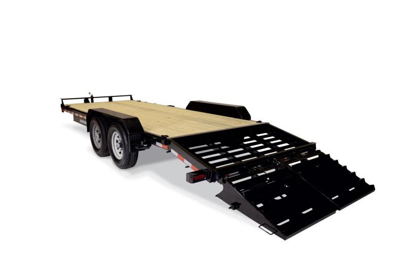 2019 Sure-Trac 81 X 17 + 3 16K Universal Ramp Implement Equipment Trailer