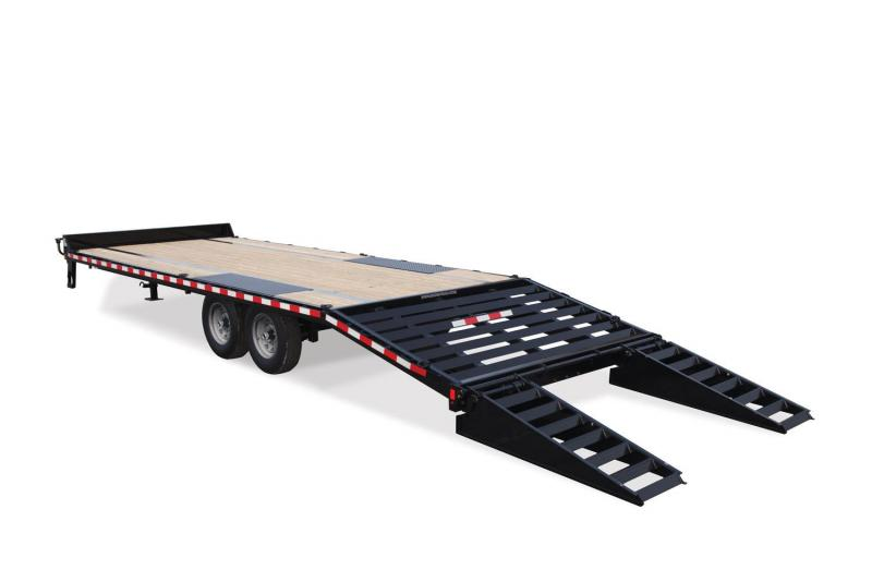 2019 Sure-Trac 8.5 X 20 + 5 HD LOW PROFILE BEAVERTAIL DECKOVER Equipment Trailer
