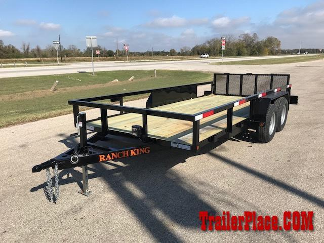 "2020 Ranch King 6'10"" x 18' Utility Trailer"