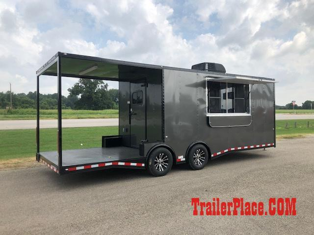 BRAND NEW IN STOCK 8.5x24 BBQ / COOK OFF / PORCH / CONCESSION / VENDING / FOOD TRAILER