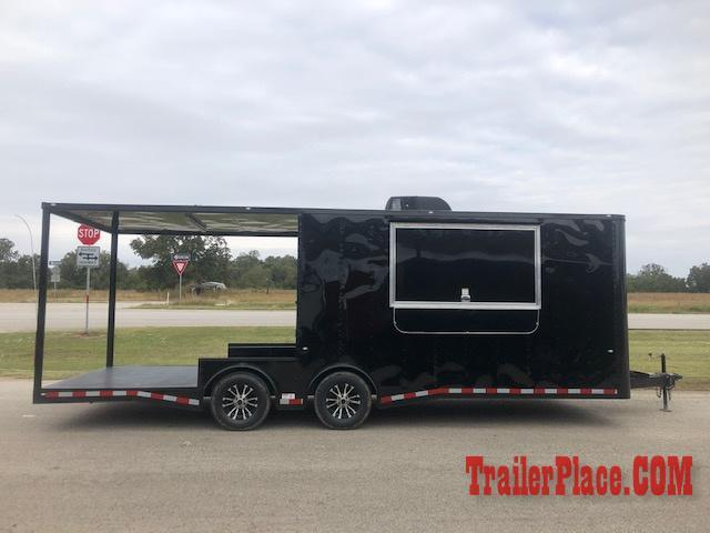 BRAND NEW IN STOCK 8.5x22 BBQ / COOK OFF / PORCH / CONCESSION / VENDING / FOOD TRAILER