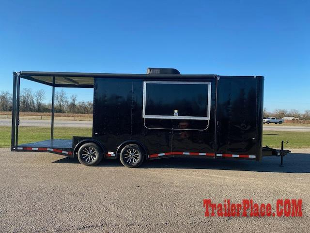 BRAND NEW AND IN STOCK 8.5x24 BBQ / COOK OFF / PORCH / CONCESSION / VENDING / FOOD TRAILER