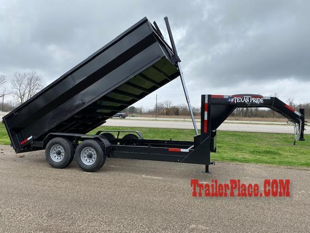 2020 Texas Pride 7 x 14 Gooseneck Dump Trailer