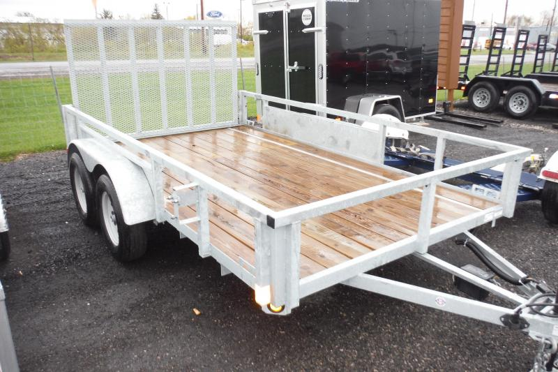 2018 Quality Steel and Aluminum 82 X 12 LANDSCAPE GALVANIZED Utility Trailer