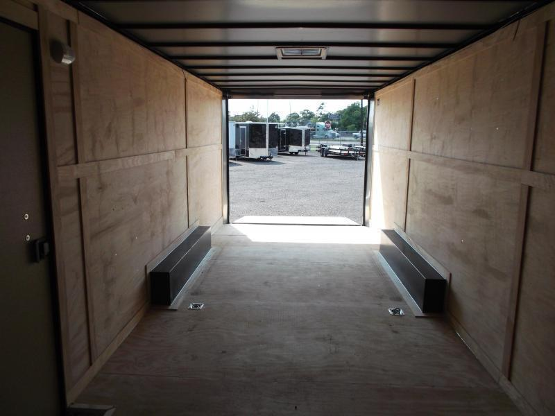 SPECIAL - 2020 Covered Wagon Cargo 8.5x24 Tandem Axle Cargo Trailer / Enclosed Trailer / Car Hauler / Black Out Package / 7ft Interior / 5200# Axles / Ramp