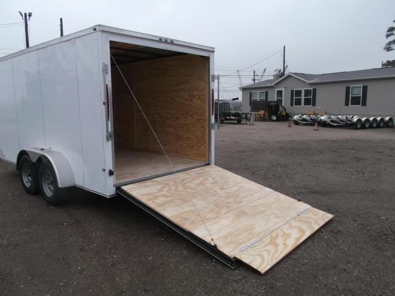 2020 Texas Select 7x14 Tandem Axle Cargo Trailer / Enclosed Trailer / Ramp / 7ft Interior / Side Door / LEDs