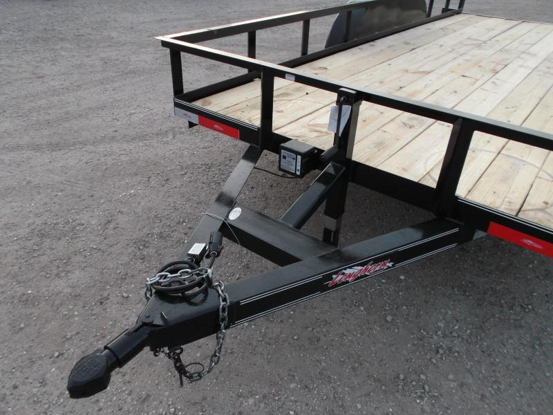 2020 Longhorn Trailers 83x16 Utility Trailer / 5200# Axles / 5ft Slide Out Ramps / 7K Jack / Electric Brakes
